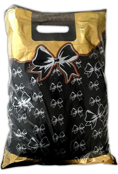 Hoşgör Plastik Takviyeli Poşet Fiyonklu Siyah 26X38 (KOLI:1000 )