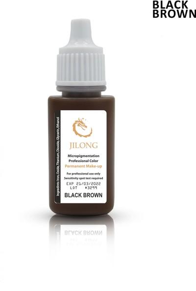 Jilong Kalıcı Makyaj Pigmenti Black Brown