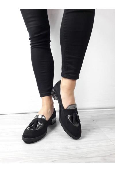 Cudo Süet Kadın Klasik Ayakkabı