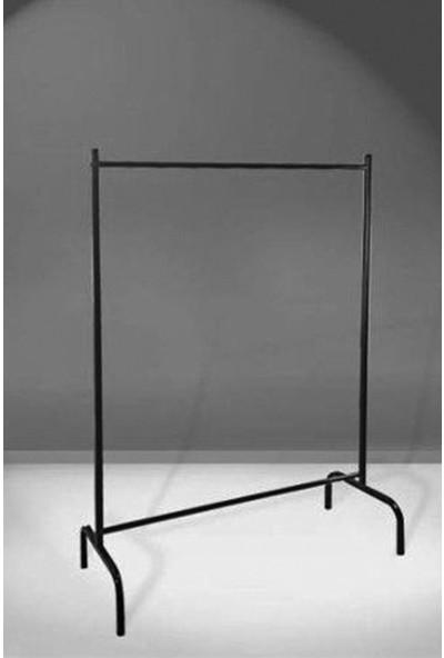 Bofigo Konfeksiyon Askısı Ayaklı Askılık Elbise Askılığı Siyah