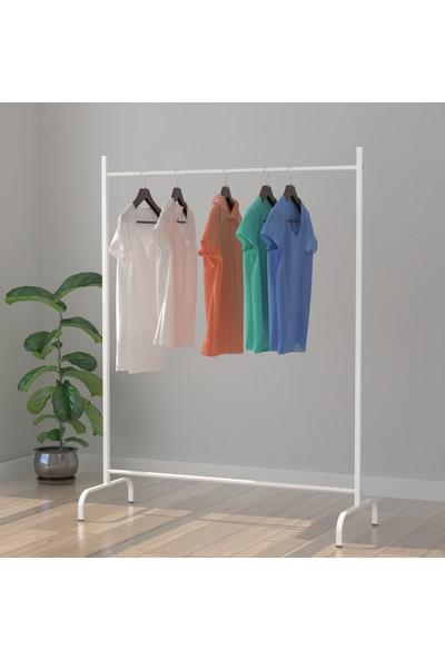 Bofigo Konfeksiyon Askısı Ayaklı Askılık Elbise Askılığı Beyaz