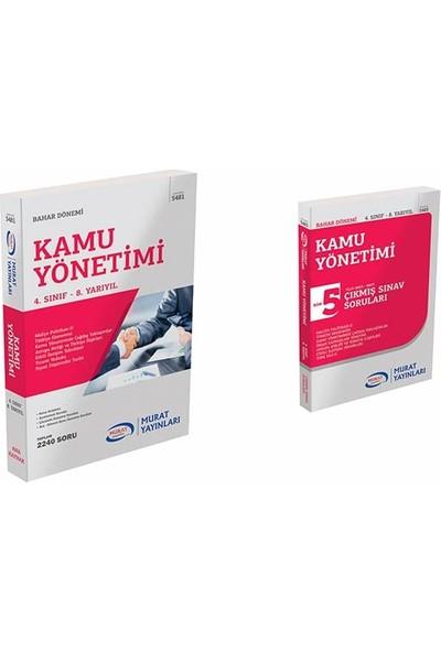 Murat Yayınları Kamu Yönetimi Set 4.Sınıf 8.Yarıyıl Bahar Dönemi Konu Anlatımlı Soru Bankası