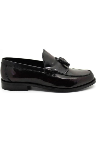 Serdar Yeşil Erkek Püsküllü Bordo Açma Deri Corcik Klasik Ayakkabı