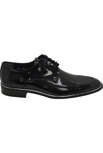 Serdar Yeşil Erkek Siyah Bağcıklı Klasik Rugan Ayakkabı