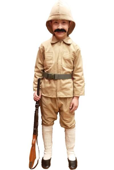 Dilek Kostüm Çanakkale Askeri Çocuk Kuvayi Milliye Kostümü Er