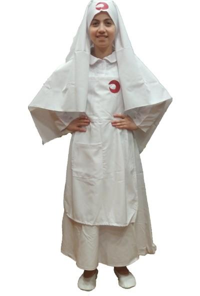 Dilek Kostüm Çanakkale Hemşire Çocuk Kostümü Kurutuluş Savaşı Kıyafetleri