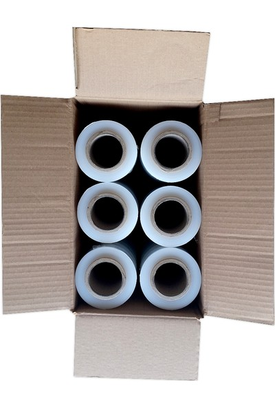 Hoşgör Plastik Palet Streç Film Palet Streci 50 cm 17 mikron 235 m (Koli:6 Bobin)