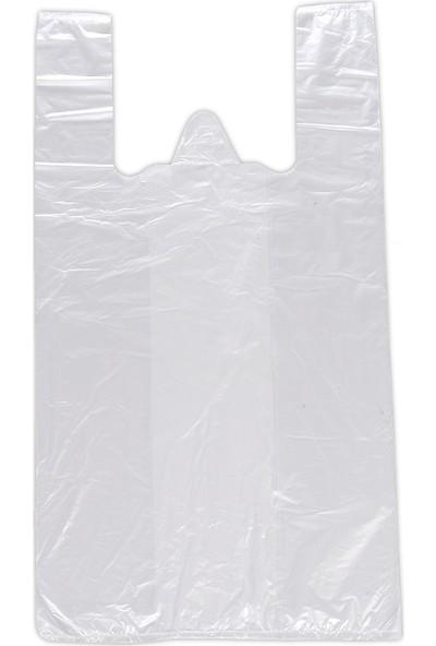 Hoşgör Plastik Hışır Atlet Market Manav Poşeti Kiloluk Orta Boy 5 Paket:5 Kg