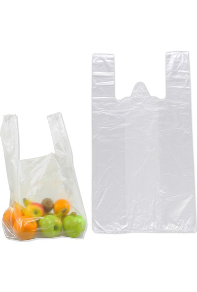Hoşgör Plastik Hışır Atlet Market Manav Poşeti Kiloluk Orta Boy Koli:20 Paket:20 Kg