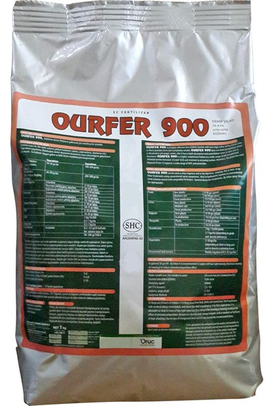 Oruç Tarım Ourfer 900 Bitki Besini 1 kg