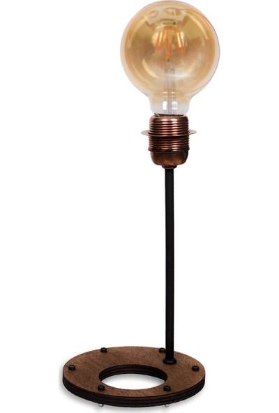 Madamvila Copper Küçük Boy Rustik Masa Lambası Abajur