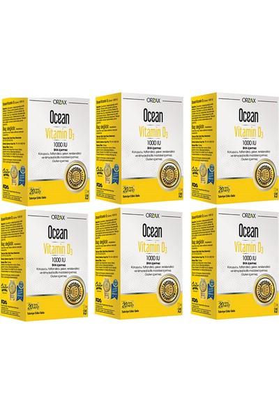 Ocean Vitamin D3 1000 Iu 20 ml Sprey 6 Adet