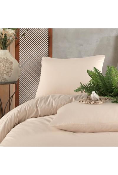 Cotton Touch Soft Krem %100 Cotton Poplin Çift Kişilik Nevresim Takımı