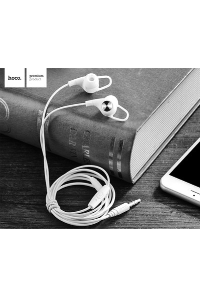 Ally Hoco M21 Stereo Ses 3.5mm Jack Universal Kulaklık AL-25449 Beyaz