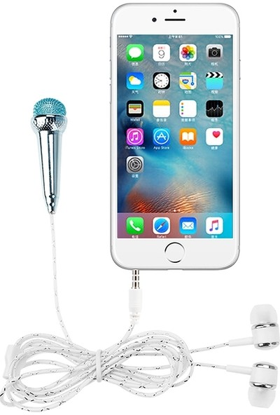 Ally Universal 3.5mm Jack Mini Mikrofon ve Kulaklık AL-26182 Pembe