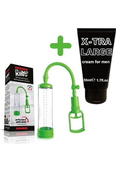 Xise Yeşil Renkli Penis Vakum Pompası + X-Tra Large Penis Kremi 50 ml