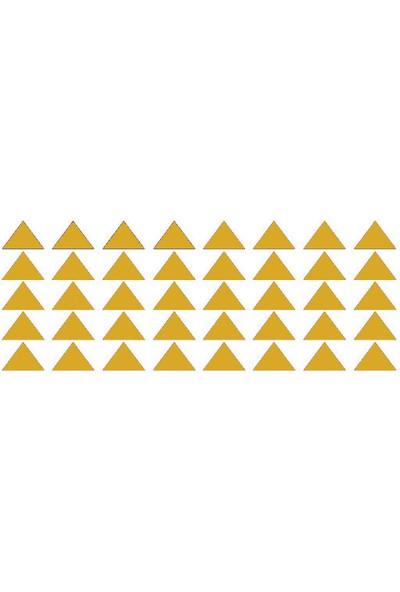 Hepsi Tedarik Bugybagy Gold Duvar Stickerı Üçgen 5cm 100 Adetçocuk Odası Duvar Dekorasyonu