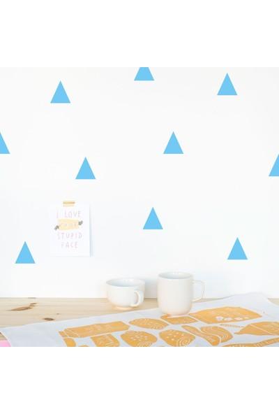 Hepsi Tedarik Bugybagy Mavi Duvar Stickerı Üçgen 5cm 100 Adetçocuk Odası Duvar Dekorasyonu