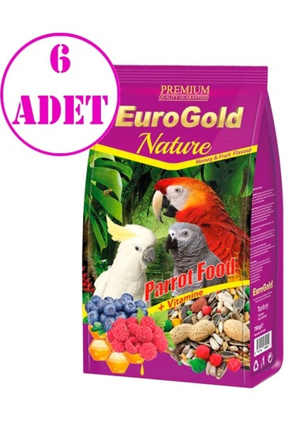 Euro Gold Papağan Yemi 750 gr 6 Adet