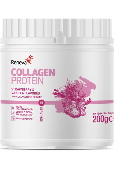 Reneva Collagen Protein Strawberry & Vanilla 200gr