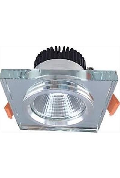 JUPİTER LS591 S Kare Camlı LED Spot Trafolu 3000K 7 W