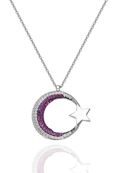 Modaincisi MK279 Ay Yıldız Gümüş Kolye