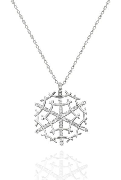 Modaincisi MK669 Gümüş Kartanesi Kolye