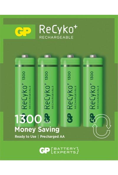 GP 4'lü ReCyko 1300 Serisi NiMH AA Kalem Boy Şarjlı Pil(GP130AAHCEMTR-2GBE4)