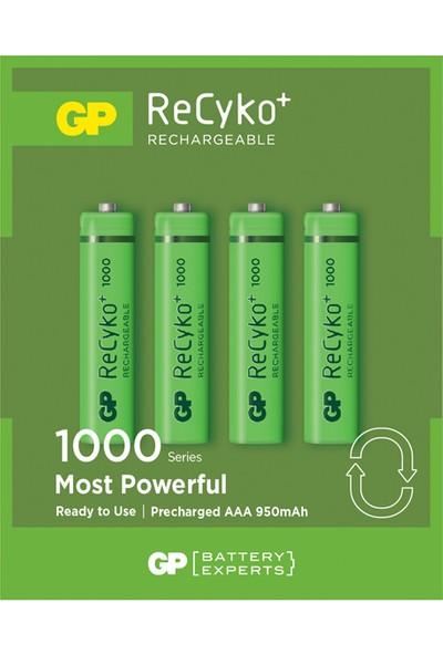 GP 4'lü ReCyko 1000 Serisi NiMH AAA İnce Kalem Boy Şarjlı Pil (GP100AAAHCEMTR-2GBE4)