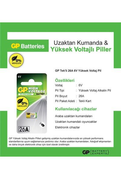 GP Tek'li 26A 6V Yüksek Voltaj Spesifik Pil (GP26AF-2C1)