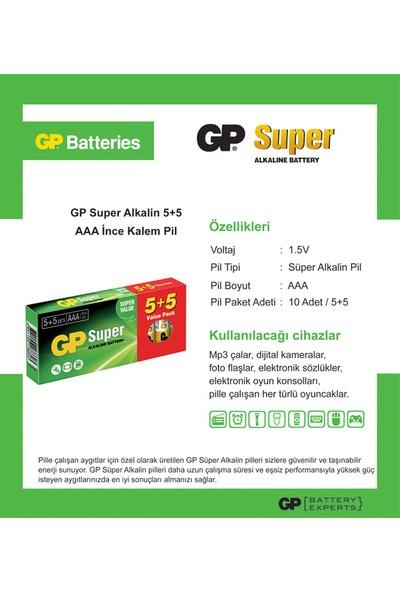Gp 5+5 Super Alkalin Pil AAA