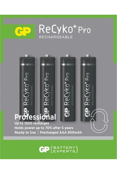 GP Reycko Pro 800 mAh AAA İnce Pil 4'lü Kart