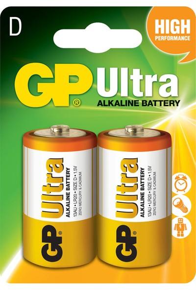 Gp 13Au Lr20 Ultra Alkalin Büyük Boy Pil 2Li