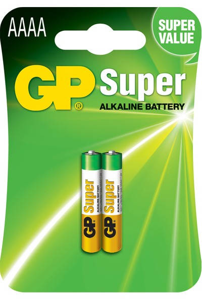 GP 2'li Super Alkalin 25A İncenin İncesi Pil LR61-AAAA (GP25A-U2)