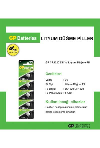 Gp Cr1220 3V Lithium 5Li Kartela