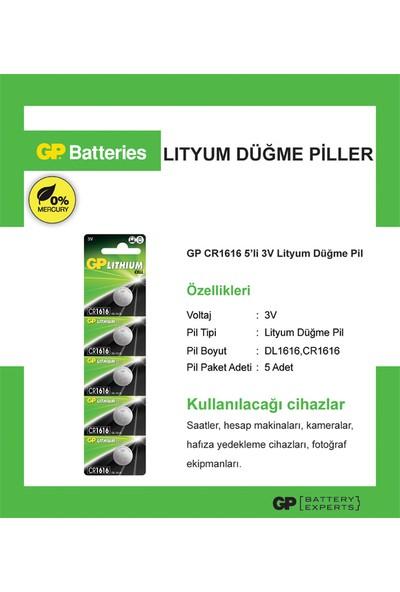 Gp Cr1616 3V Lithium 5Li Kartela