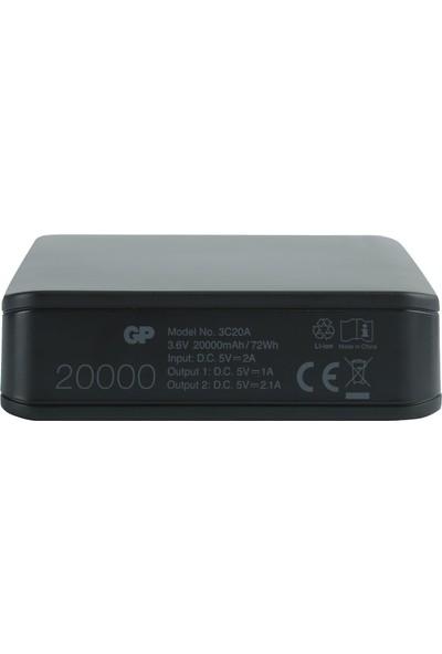 Gp Gp3C20Abe Powerbank Li-Ion 20000 mAh Siyah