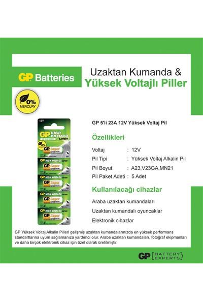 GP 5'li 23A 12V Alkalin Spesifik Pil (GP23A-C5)