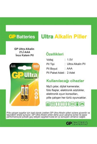 GP Ultra Alkalin 2'li AAA Boy İnce Pil (GP24AU-2U2)