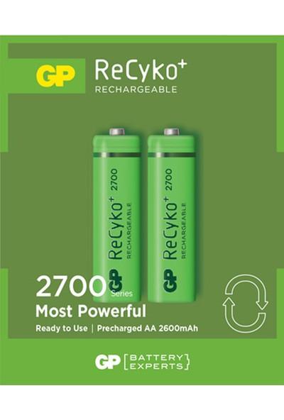 GP 2'li ReCyko 2700 Serisi Ni-Mh Şarj Edilebilir AA Kalem Pil (GP270AAHCEMTR-2GB2)