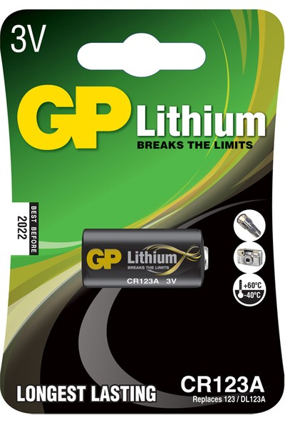 GP Tekli CR123A 3V Lityum Pil (GPCR123A-U1)