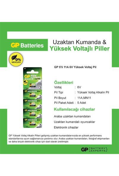 GP 5'li 11A 6V Yüksek Voltaj Spesifik Pil (GP11A-2C5)