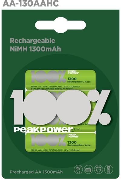 Gp Peak Power 1300 Aa Kalem Nimh Şarjlı Pil 4'Lü
