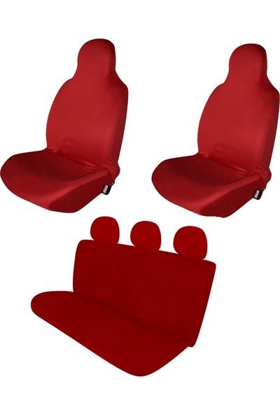 Sanalmaster Chevrolet Aveo Serisi Oto Kılıf Ön Koltuk Kılıfı-Minderi Kırmızı