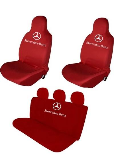 Sanalmaster Mercedes 200 Serisi Oto Kılıf Ön Koltuk Kılıfı-Minderi Kırmızı