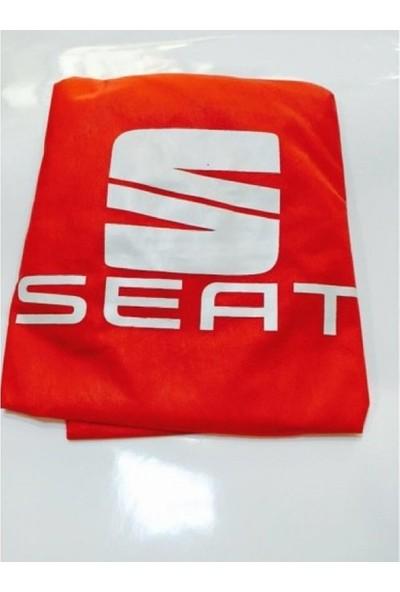 Sanalmaster Seat Cordoba Serisi Oto Kılıf Ön Koltuk Kılıfı-Minderi Kırmızı