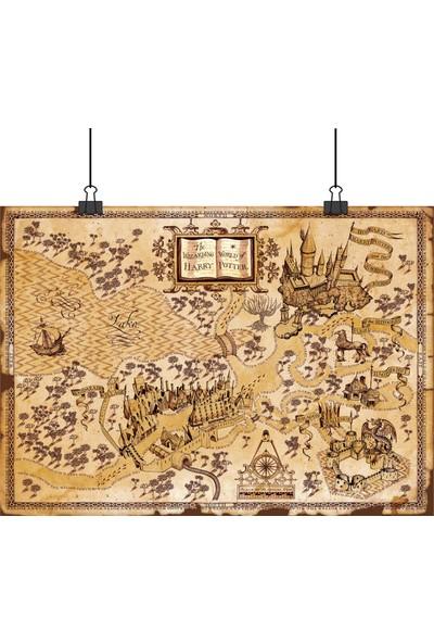 Harry Potter Çapulcu Capulcu Haritası 50 x 70 cm Posteri