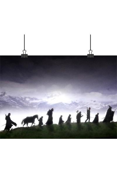 Lord Of The Rings Lotr Yüzüklerin Efendisi Tüm Ekip 50 x 70 cm Posteri
