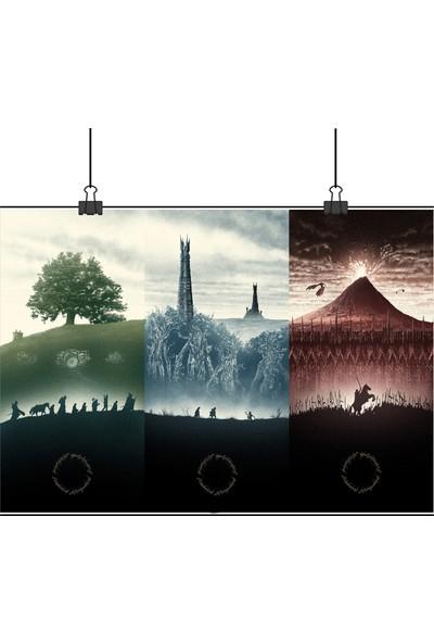 Lord Of The Ring Yüzüklerin Efendisi 3 Afiş Tek 50 x 70cm Posteri