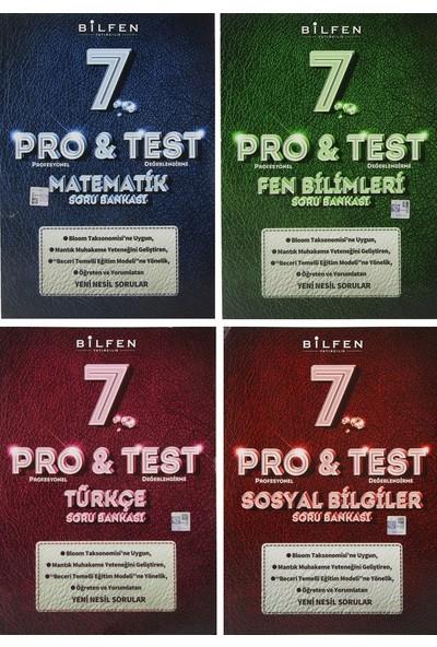 Bilfen Yayınları 7. Sınıf Pro & Test Soru Bankası Seti 4 Kitap